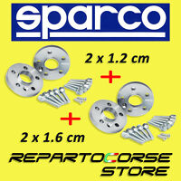 DISTANZIALI SPARCO 12 + 16 mm FIAT 500 e FIAT 500 ABARTH