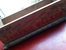 More details for johnnie walker whisky advertising christmas special wooden crate box