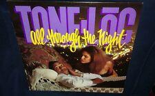"TONE LOC, ALL THROUGH THE NIGHT, 12"" NM VINYL 1991 SINGLE 33RPM feat. El DeBarge"