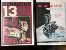 SCHAUBLIN 13 Precision Fraiseuse universelle & accessoires catalogues x2
