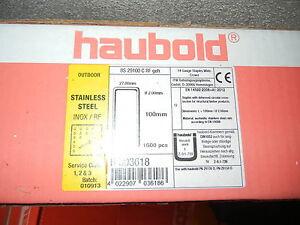 Für Haubold Prebena und HolzHer Klammern BS 29100 CRF geh. 1600 st. Edelstahl