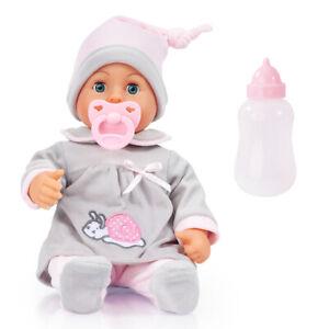 First words Baby Puppe 38 cm Funktionspuppe Schnuller Flasche von Bayer 93824BC