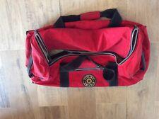 Kipling red private transport 2 wheels luggage bag