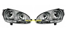 VW Golf V MK5 Jetta III Silver Projector 2H7 H7+H7 Headlights Headlamps Set Pair