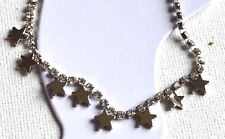 New Silver diamanté and star anklet fashion jewellery
