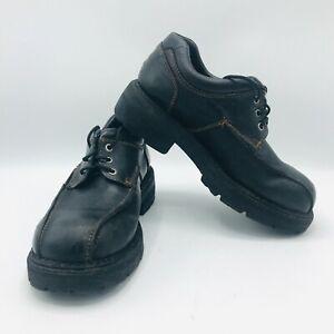 London Underground Lace Up Shoes Black Platform Punk Rock Goth Mens 8 M