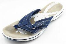 Clarks Size 8 M Blue Flip Flop Synthetic Women Sandal Shoes