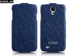 ICARER FAKE OSTRICH REAL COW HIDE LEATHER FLIP CASE FOR SAMSUNG GALAXY S4 i9500
