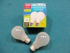 100 W/Watt Energy Saving Dimmable Incandescent Style Halogen Bulb * 2 pack *