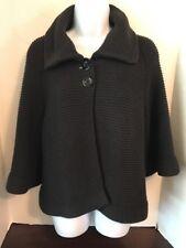 APOSTROPHE Women's Black Chunky Knit Sweater Bolero Jacket Size L