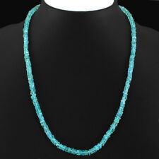 "Fabulous 112.05 Cts Natural Apatite Handmade Jewelry Necklace 18"" Gemstone"