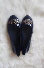 Tory Burch Navy Blue Jelly Flats Size 7 N, waterproof, rain, silver logo buckle
