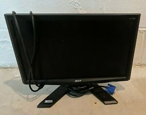 """Acer X173w 17"""" LCD Monitor - With Cords - Tested Works"""