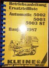 Kleine Rübenvollernter Automatic 5002 5003 ST Betriebsanleitung Ersatzteilliste
