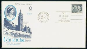 Mayfairstamps Canada FDC 1971 Queen Parliament Building Blue Royal wwk_34913