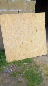"""7x OSB Board Each 4ft X 4ft X1"""" Thick"""