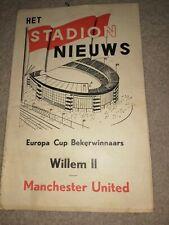 More details for willem ll v manchester united 25/9/63  ecwc