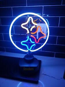 Pittsburgh Steelers NFL Neon Logo Lamp Light, Man Cave