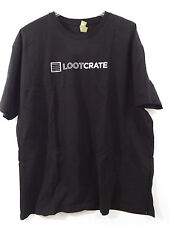 Mens T shirt Loot Crate Exclusive Black with White Loot Crate Logo NEW 2XL