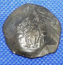 Byzantine Coin. Manuel I. Billon Aspron Trachy â—‡ Constantinople Emp & Virgin
