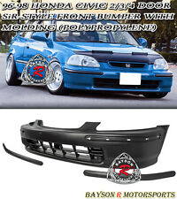 SIR-Style Front Bumper Cover With Molding Fits 96-98 Honda Civic 2/3/4dr