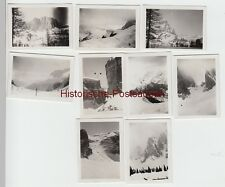 (f6739) 9x ORIG. foto Dolomiti, Dolomiti, innevati montagne, mini foto 1936
