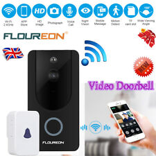 FLOUREON Smart Video Doorbell Camera Wireless WiFi Security Phone Bell 720P HD