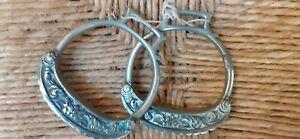 Antique nikel stirrups for horse sud america