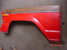 Used Jeep Wagoneer Left front fender drivers side wood grain red Cherokee 74-79