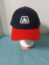 DUPONT PIONEER SEED LOGO HAT CAP NAVY BLUE RED ADJUSTABLE