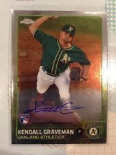 2015 Topps Chrome Kendall Graveman #AR-KG On Card ROOKIE Auto - A's