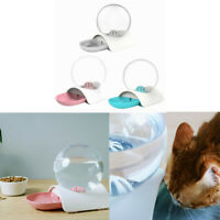 Pet Water Fountain Cat Dog Automatic Waterer Dish Bowl Bubble Drinking Feeder