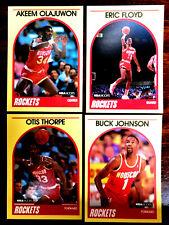 1989/90 Hoops AKEEM OLAJUWON + 3 ~ YELLOW BORDER SEARS CARDS ~ A LOT OF FIVE!!!!