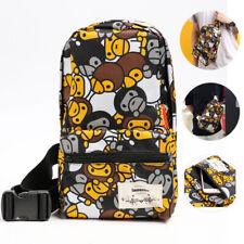 New A Bathing Ape Bape Camo Crossbody Bag Messenger Bag Pack Casual Shoulder Bag