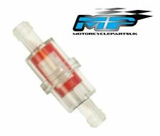 8mm ROUND IN LINE FUEL FILTER MOTORCYCLE SCOOTER TRIALS ENDURO QUAD MOWER