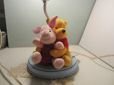Vintage Winnie The Pooh And Piglet Lamp by Dolly Co.