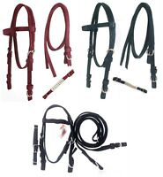 D.A. Brand Closeout Poly Western Bridles w/ Split Reins Horse Tack