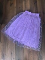 BNWT ZARA LILAC TULLE SKIRT WITH FLORAL EMBROIDERY  SIZE XS