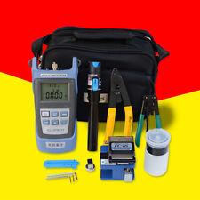 UK Fiber Optic FTTH Tool Kit FC-6S Cleaver Optical Power Meter Electrical Device