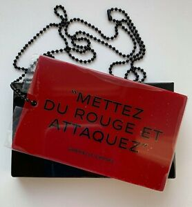 CHANEL mirror red rouge allure with chain charm very rare VIP GIFT