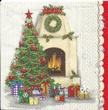 Lot de 3 Serviettes en papier Cocktail Sapin Noël Decoupage Collage Decopatch