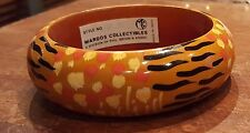 "VERY COOL WOODEN ""JUNGLE THEME"" BANGLE FASHION BRACELET - NEW"