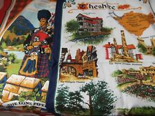 New listing lot 2 linen dish towel Cheshire England Clive Mayor Lone Bag Piper Butterworth