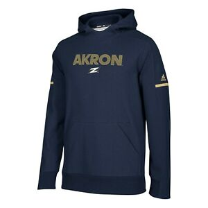 Akron Zips NCAA Adidas Men's 2018 Sideline Navy Blue Squad Pullover Hoodie
