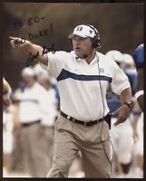 Ted Roof Signed 8x10 Photo College NCAA Football Coach Autograph Duke