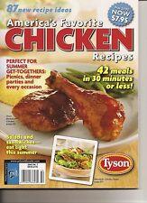 Tyson America's Favorite Chicken Recipes Magazine August 2009  Free Ship