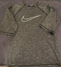 Nike - Boys Swim Shirt - Grey - Youth Size Large (11-13 Year Olds)