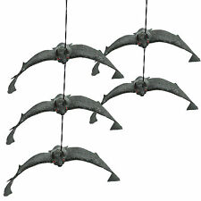 5x Hanging Rubber Vampire Bat Toy Prop Fancy Dress Halloween Party Decoration