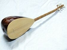 TURKISH MAHOGANY SHORT NECK  SAZ BAGLAMA  With FREE CASE
