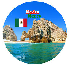 MEXICO - SIGHTS / FLAG - ROUND NOVELTY SOUVENIR FRIDGE MAGNET - NEW - GIFTS